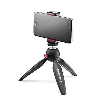 Manfrotto mkpixiclamp-bk, mini tripod with universal smartphone clamp, for iphone with or without