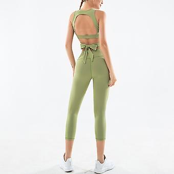 Dames slim yoga bow fitness sports suit YJ021