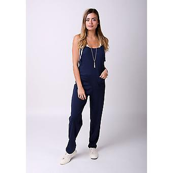 Mabel tricot jumpsuit in Navy