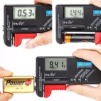 Battery Tester - Digital Universal Volt Checker For Aa Aaa C D 9 V 1.5 V Button Cell Bt-168d Batteries
