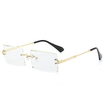 مستطيل صغير ريملس النظارات الشمسية مربع