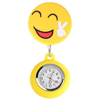 Waterproof, Cute Smiling, Clip-on Hanging Pocket Watch For Doctor/nurse