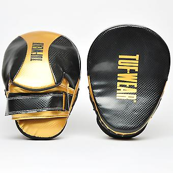 Tuf Wear Victor Curved Hook & Jab Pad Black / Gold