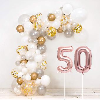 50Th golden wedding anniversary diy balloon arch kit - includes over 120 balloons