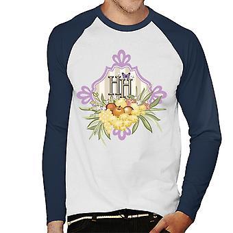 Holly Hobbie Obst und Blumen Männer's Baseball langärmelige T-Shirt