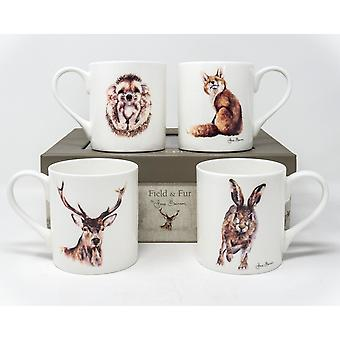 Jane Bannon In The Fields Mug Set (Pack of 4)