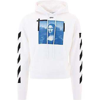Off-white Ombb037r21fle0010110 Männer's weiße Baumwolle Sweatshirt