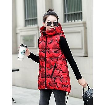 Herfst en Winter Vrouwen Vest, dikke katoenen jassen plus groot, Lady Kleding Warm