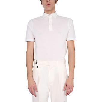 Lardini Ellpmc14100 Men's White Cotton Polo Shirt