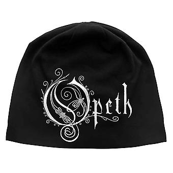 Opeth Beanie Hat Classic Band Logo new Jersey print Official Black