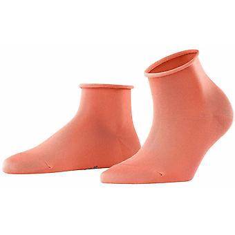 Falke Cotton Touch Short Socks - Coral Rose Orange