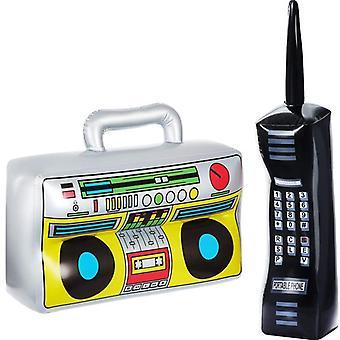 Puhallettava Radio Boom Box & Matkapuhelin Rekvisiitta Pvc