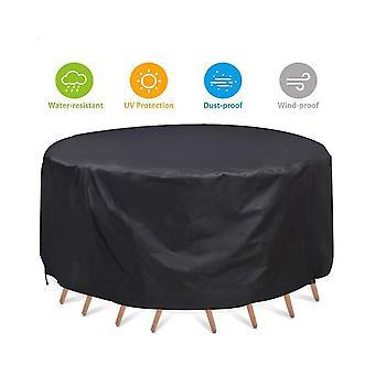 طاولة مستديرة في الهواء الطلق والكرسي الغبار تغطية الأثاث المستديرة للماء والغبار غطاء
