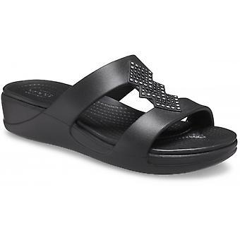 Crocs 207143 Monterey Shimmer Naisten Muuli Sandaalit Musta