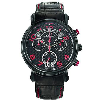 Mathey Tissot Men's Retrograde Chrono Black Dial Watch - H7030RSO