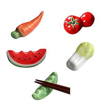 søt keramiske spisepinner hvile, gulrot panda bunny tomat spisepinne holder, skje gaffel kniv rack bord dekor