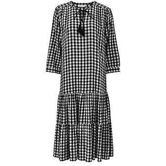 Masai Clothing Nari Black & White Check Dress
