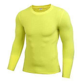 Fitness al aire libre para hombre, capa base y de manga larga, cuerpo bajo deportes apretados, gimnasio