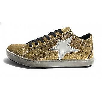 Женская обувь Tony Wild Кроссовки Кожа Rocher Золото / Звезда Белый D18tw22