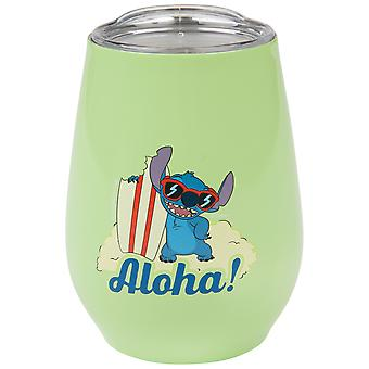 Lilo and Stitch Aloha Board Stainless Tumbler with Lid