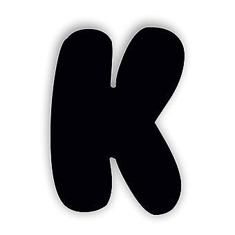 ブラックアルファベットの文字バブルガムアクリルドアサイン– K