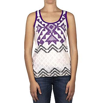 Custo Barcelona Women Tank top Paillet Mid Sea Multicolor