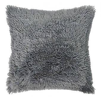 pillow Shaggy 50 x 50 cm textile anthracite