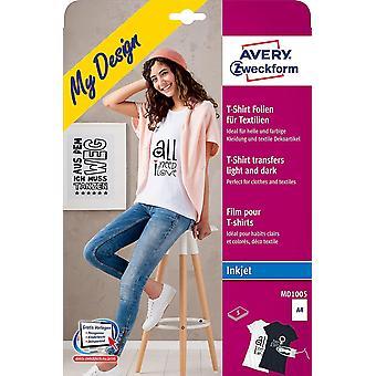 Wokex MD1005 5 Textilfolien (fr und helle Textilien, DIN A4, bedruckbare T-Shirt Folie zum