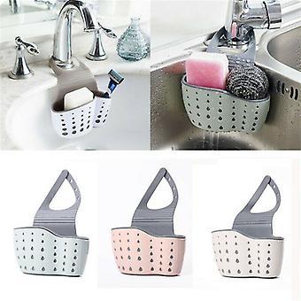 Hanging Drainer Basket Sink Shelf Soap Sponge Drain Rack Bathroom Holder Draine