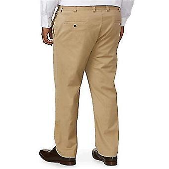 Essentials Men's Big & Tall Athletic-fit Casual Stretch Khaki Pant fit by DXL, Navy, 44W x 32L