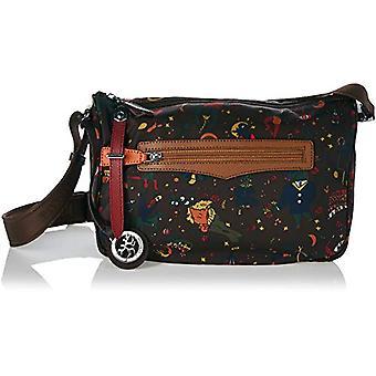 piero guidi Messenger, Women's shoulder bag, Brown (Brown (Chocolate), 30.0x25.0x12.0 cm (W x H x W)