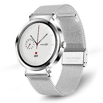 ساعة ذكية امرأة، ساعة ذكية لهواوي سامسونج Xiaomi iPhone الروبوت، الرياضة الذكية ووتش مع معدل ضربات القلب، السعرات الحرارية، ساعة ذكية (الفضة)