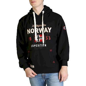Geographical Norway - Clothing - Sweatshirts - Guitre100-man-black - Men - Schwartz - XL