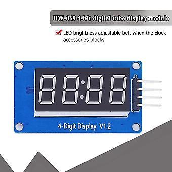 Arduino 7 Segment 4 Bit 0.36 İnç Saat için Led Ekran Modülü