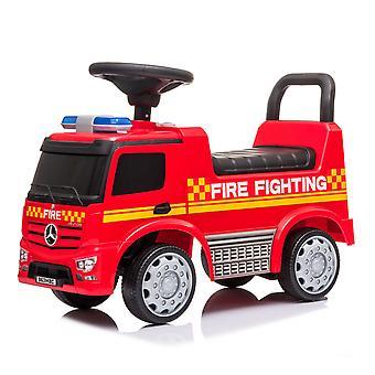 Loopwagen Mercedes Brandweerwagen met LED