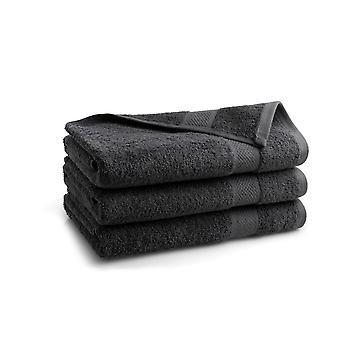 Seashell Hotel Collectie Handdoek - Antraciet - 3 stuks - 70x140cm