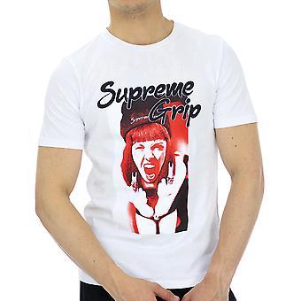 Supreme Grip Men T-Shirt Rolls White