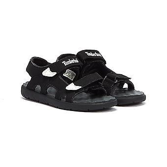 Timberland Perkins Row 2-Strap Youth Czarne sandały