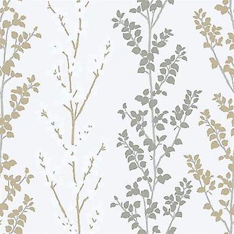 Tempo Branch Gold Wallpaper