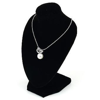 Zwarte mannequin ketting sieraden hanger display stand houder show versieren