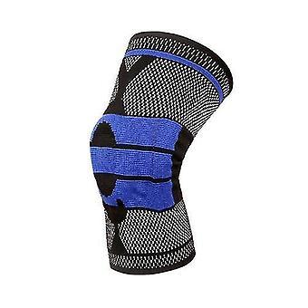 Aides à la formation de basket-ball soutien au basket-ball genouillères rembourrées en silicone protection de la genouillure chirurgicale + bleu m