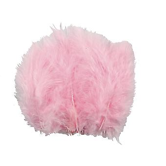 15 Pink 5cm-12cm Fluffy Feathers for Crafts