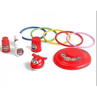 Ring Toss Spiel Karneval Combo Set mit Sitzsäcken Plastikkegel werfen (Gelb)