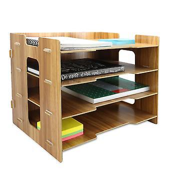 | منظم مكتب خشبي مستطيل بوككر