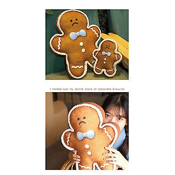 Happy ginger-shaped biscuit pillow cushion imitation human expression doll doll children's plush toys