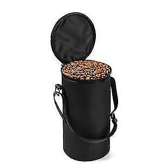 Wodoodporna torba na karmę dla psów miski podróżne sucha torba na karmę dla psów (czarny)