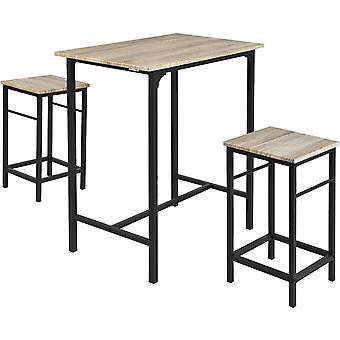 SoBuy Drewniane meble kuchenne Stół i stołki, OGT10-N