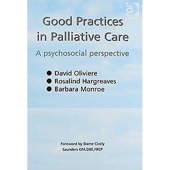 Good Practices in Palliative Care: A Psychosocial Approach