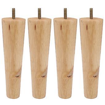 Pöydän jalat 4kpl 20cm puiset puiset huonekalujalat m8-ruuvilla tuolille