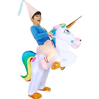 Kid`s Unicorn Costume Inflatable Party Clothes For Parent Child Halloween Cost Prop
